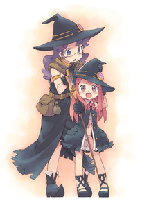 Rating: Safe Score: 0 Tags: >_d 2girls :d >:d ankle_lace-up cross-laced_footwear fantasy hand_on_hat hand_on_headwear hat kanzaki_hiro multiple_girls open_mouth original pantsu purple_eyes purple_hair red_eyes red_hair shimapan smile staff striped underwear witch_hat User: DMSchmidt