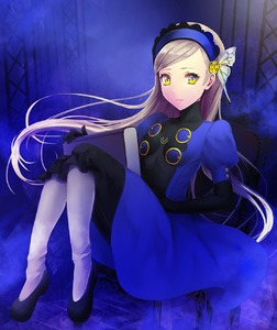 Rating: Safe Score: 2 Tags: 1girl blonde_hair book dress elbow_gloves gloves headband highres lavenza long_hair mozuyun persona persona_5 spoilers yellow_eyes User: DMSchmidt