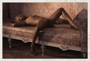Rating: Questionable Score: 10 Tags: 1girl 3dcg barefoot blonde_hair couch elf flat_chest florie neesnusus nipples nude photorealistic pose pussy shadow short_hair User: fantasy-lover