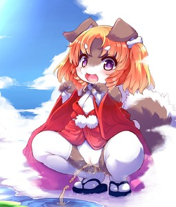 Rating: Explicit Score: 3 Tags: 1girl animal_ears arms_up brown_hair censored cloud dog_ears dog_tail fangs flat_chest highres japanese_clothes kemono kimono lolo_(kemonono) long_hair mosaic_censoring nipples off_shoulder open_clothes open_kimono open_mouth original outdoors paw_pose pee peeing purple_eyes pussy red_kimono river sandals sky smile solo spread_legs squatting tail thighhighs two_side_up water white_legwear User: DMSchmidt