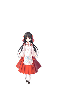 Rating: Safe Score: 1 Tags: 1girl absurdres bangs black_footwear black_hair blush bow closed_mouth cura eyebrows_visible_through_hair hachiroku_(maitetsu) hair_bow hakama highres japanese_clothes kimono long_hair long_sleeves maitetsu miko negative_space pantyhose pigeon-toed red_bow red_eyes red_hakama ribbon-trimmed_sleeves ribbon_trim shoes simple_background sleeves_past_wrists smile solo standing very_long_hair white_background white_kimono white_legwear wide_sleeves User: DMSchmidt