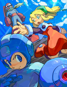 Rating: Safe Score: 0 Tags: 1girl 2boys artist_request blonde_hair blue_eyes blues capcom hair_ribbon long_hair lowres multiple_boys ponytail red_skirt ribbon rockman rockman_(character) rockman_(classic) roll skirt User: DMSchmidt