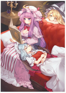 Rating: Safe Score: 1 Tags: 3girls absurdres artist_name bat_wings blonde_hair blue_ribbon book border bow bowtie breasts candle cleavage closed_eyes couch crescent crescent_hair_ornament cup drawer dress drinking_glass eyebrows_visible_through_hair grimoire hair_between_eyes hair_ornament hajin hat hat_bow hat_ribbon highres indoors kirisame_marisa lap_pillow light_rays long_hair long_sleeves looking_at_another lying medium_breasts mob_cap multiple_girls on_back parted_lips patchouli_knowledge petticoat pillow plant puffy_sleeves purple_dress purple_eyes purple_hair red_bow red_neckwear red_ribbon remilia_scarlet ribbon scan sidelocks sleeping smile touhou_project very_long_hair white_border white_bow white_dress wine_glass wings witch_hat yellow_eyes User: DMSchmidt