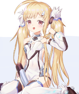 Rating: Safe Score: 1 Tags: 1girl :o ahoge azur_lane bangs bare_shoulders between_legs blonde_hair blush brown_eyes brown_footwear collarbone detached_sleeves dress eldridge_(azur_lane) electricity eyebrows_visible_through_hair facial_mark hair_ornament highres long_sleeves mapi_(mapi_9) open_mouth puffy_long_sleeves puffy_sleeves purple_background shoes sidelocks sitting sleeveless sleeveless_dress solo thighhighs thighs torpedo twin_tails two-tone_background upper_teeth wariza wet wet_hair white_background white_dress white_legwear wringing_hair User: DMSchmidt
