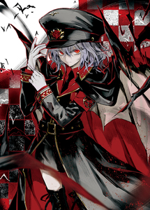 Rating: Safe Score: 0 Tags: 1girl alternate_costume bat bat_wings belt blue_hair boots checkered checkered_background gloves hat looking_at_viewer military military_uniform minakata_sunao necktie pentagram red_eyes remilia_scarlet short_hair solo thigh_boots thighhighs touhou_project uniform wings User: DMSchmidt