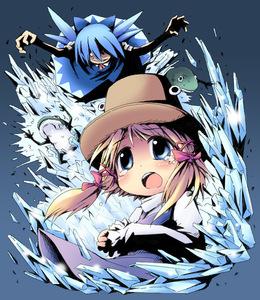 Rating: Safe Score: 0 Tags: 2girls blonde_hair blue_hair cirno crystal frog ham_(points) hat ice moriya_suwako multiple_girls ribbon team_shanghai_alice tears touhou_project User: DMSchmidt