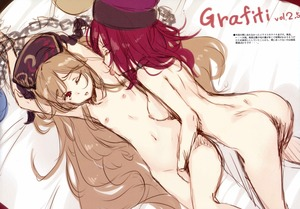 Rating: Explicit Score: 0 Tags: 2girls absurdres armpit_licking armpits ass blonde_hair breasts chain closed_eyes earth_(ornament) fingerless_gloves flat_chest gloves hat hecatia_lapislazuli highres inverted_nipples junko_(touhou) ke-ta licking long_hair medium_breasts moon_(ornament) multiple_girls navel nipples nude one_eye_closed red_eyes red_hair scan short_hair sketch tagme tongue tongue_out touhou_project very_long_hair yuri User: DMSchmidt