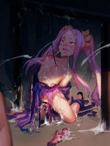 Rating: Explicit Score: 0 Tags: 1girl blue_ribbon blush breasts bukkake censored cum cum_in_mouth cum_in_pussy cum_on_body cum_on_breasts cum_on_lower_body cum_on_upper_body dildo dress facial fate/grand_order fate_(series) female_ejaculation heart-shaped_pupils highres insertion long_hair nipple_rings nipple_torture nipples open_mouth piercing purple_dress purple_eyes purple_hair pussy sash scrunchie sex_toy small_breasts spiked_dildo symbol-shaped_pupils tied_hair torn_dress twin_tails vaginal_insertion wdmmnyzmka wu_zetian_(fate/grand_order) User: Domestic_Importer