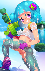 Rating: Questionable Score: 5 Tags: 1girl ass blue_hair blue_sky born-to-die day domino_mask flat_chest highres ink_tank_(splatoon) inkling mask midriff nipples pantsu purple_eyes purple_panties see-through short_hair sky solo splatoon_(series) splattershot_(splatoon) super_soaker tentacle_hair torn_clothes underwear wet wet_clothes User: DMSchmidt