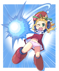 Rating: Safe Score: 2 Tags: 1girl arm_cannon blonde_hair boots capcom green_eyes highres ki_(adotadot) knee_boots pantsu red_skirt rockman rockman_(classic) roll skirt solo underwear weapon User: DMSchmidt