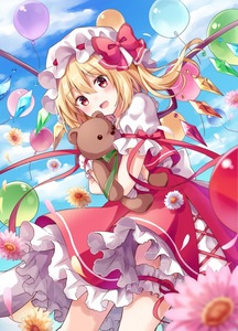 Rating: Safe Score: 0 Tags: 1girl :d balloon bangs blonde_hair blue_sky blurry bow cloud cloudy_sky cowboy_shot cross-laced_clothes crystal daisy day depth_of_field eyebrows_visible_through_hair flandre_scarlet flower frilled_skirt frilled_sleeves frills green_ribbon hair_between_eyes hat hat_bow holding holding_stuffed_animal kure~pu leg_garter looking_at_viewer mob_cap one_side_up open_mouth outdoors petals petticoat pink_flower puffy_short_sleeves puffy_sleeves red_bow red_eyes red_ribbon red_skirt red_vest ribbon shirt short_hair short_sleeves skirt sky smile solo stuffed_animal stuffed_toy teddy_bear touhou_project vest white_flower white_shirt wings yellow_flower User: DMSchmidt