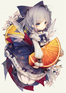 Rating: Safe Score: 2 Tags: 1girl absurdres bangs blue_bow blue_eyes blue_hair blush bow cirno closed_mouth eyebrows_visible_through_hair food fruit full_body hair_bow highres hito_komoru holding holding_food holding_fruit ice ice_wings long_sleeves looking_at_viewer mandarin_orange orange oversized_object shoes short_hair solo thighhighs touhou_project white_legwear wings User: DMSchmidt