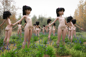 Rating: Questionable Score: 10 Tags: 3dcg 6+girls ass barefoot black_hair closed_mouth feet full_body highres long_hair multiple_girls navel nipples nude one-piece_tan original outdoors photorealistic plant pussy shiny shiny_hair small_breasts standing tan tanline toufu_(tofusan) tree uncensored User: Domestic_Importer