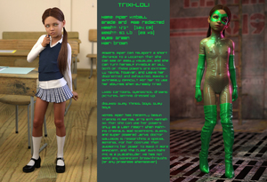 Rating: Questionable Score: 16 Tags: 1girl 3dcg blue_eyes boots brown_hair elbow_gloves english flat_chest gloves joetg311 long_hair looking_at_viewer mary_janes mask navel nipples photorealistic piper_kimball pose pussy school school_uniform shoes skirt socks standing superhero thigh_boots thighhighs transparent zettai_ryouiki User: fantasy-lover