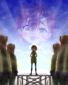 Rating: Safe Score: 0 Tags: 6+girls ahoge artist_request blue_sky blush brown_eyes brown_hair clone cloud crossover gloves glowing glowing_eyes hair_between_eyes head_tilt highres last_order military military_uniform misaka_imouto multiple_girls open_mouth outdoors short_hair sky smile standing tanya_degurechaff_(cosplay) to_aru_majutsu_no_index translation_request uniform youjo_senki User: Domestic_Importer