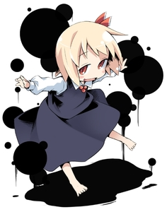 Rating: Safe Score: 0 Tags: 1girl barefoot blonde_hair chibi hair_ribbon ham_(points) ink outstretched_arm red_eyes ribbon rumia short_hair solo spread_arms team_shanghai_alice touhou_project User: DMSchmidt