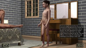 Rating: Explicit Score: 2 Tags: 1boy 1girl 3dcg age_difference bed brickwall brown_hair clitoral_hood comic english father_and_daughter flat_chest hair_bun iesys_(daddy's_girl) iesys_comics incest looking_at_partner mirror nipples nude penis photorealistic presenting pussy reflection testicles text tree uncensored window User: Software