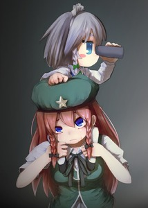 Rating: Safe Score: 0 Tags: 2girls beret binoculars blue_eyes blush_stickers braid carrying closed_mouth collared_shirt eyebrows_visible_through_hair grey_hair hair_between_eyes hand_on_another's_head hat headdress highres holding_binoculars hong_meiling izayoi_sakuya jitome long_hair long_sleeves looking_afar looking_up maid maid_headdress multiple_girls no_mouth red_hair shirt short_sleeves shoulder_carry star tekina_(chmr) touhou_project twin_braids upper_body vest white_legwear wing_collar younger User: Domestic_Importer