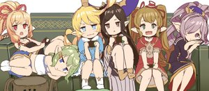 Rating: Safe Score: 1 Tags: 6+girls arulumaya blonde_hair blue_eyes brown_eyes brown_hair charlotta_fenia couch crown dress drusilla eyebrows_visible_through_hair frills granblue_fantasy green_eyes green_hair hair_ornament hair_over_one_eye hairclip harvin hat mahira_(granblue_fantasy) mimlememel multiple_girls nio_(granblue_fantasy) o_(rakkasei) pointy_ears ponytail purple_eyes purple_hair red_eyes socks tank_top triangle_mouth twin_tails wavy_hair User: DMSchmidt