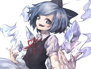 Rating: Safe Score: 0 Tags: 1girl blue_bow blue_eyes blue_hair blue_wings bow cirno collared_shirt fingernails frog frozen_frog highres hito_komoru ice ice_wings looking_at_viewer medium_hair neck_ribbon open_mouth red_ribbon ribbon see-through shirt short_sleeves simple_background smile solo teeth touhou_project upper_body vest white_background white_shirt wing_collar wings User: DMSchmidt