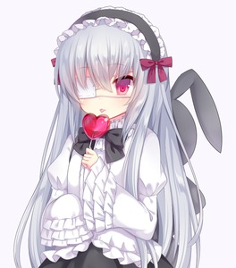 Rating: Safe Score: 0 Tags: 1girl amashiro_natsuki animal_ears backpack bag bow bunny_ears candy eyepatch frilled_sleeves frills hairband juliet_sleeves lolita_fashion lolita_hairband lollipop long_hair long_sleeves original puffy_sleeves red_eyes shirt silver_hair skirt sleeves_past_wrists solo tongue tongue_out very_long_hair User: DMSchmidt