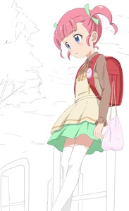 Rating: Safe Score: 0 Tags: 1girl backpack bag bangs blue_eyes blush brown_ribbon brown_shirt cloud collared_shirt crime_prevention_buzzer eyebrows_visible_through_hair green_ribbon green_skirt hair_ribbon highres leaning_back leaning_on_rail long_sleeves looking_away neck_ribbon outdoors parted_lips partially_coloured pink_hair pripara randoseru ribbon shirt skirt solo thighhighs tree trg-_(sain) twin_tails white_legwear User: DMSchmidt