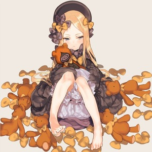 Rating: Safe Score: 1 Tags: 1girl :< abigail_williams_(fate/grand_order) bare_legs barefoot beret black_bow black_dress blonde_hair blue_eyes blush bow closed_mouth dress fate/grand_order fate_(series) feet forehead hair_bow hands_in_sleeves hat kissai knees_up long_hair polka_dot polka_dot_bow sitting solo stuffed_animal stuffed_toy teddy_bear toes tsurime yellow_bow User: Domestic_Importer