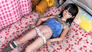 Rating: Explicit Score: 18 Tags: 1girl 3dcg bangs bed black_hair blunt_bangs closed_eyes flat_chest long_hair navel pantsu pantsu_pull photorealistic pillow pussy pussy_peek rainbowbambi shadow skirt skirt_lift socks source_request striped_legwear underwear User: Yine