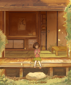 Rating: Safe Score: 0 Tags: 1girl architecture artist_name closed_eyes dated east_asian_architecture grass hands_on_own_chest house kotokoto_(vibgyor) light_particles number original porch short_hair signature sitting skirt sliding_doors smile solo table tatami User: DMSchmidt