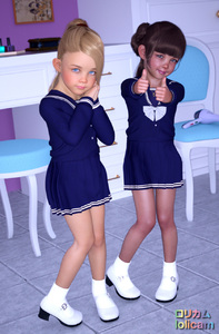 Rating: Safe Score: 27 Tags: 2girls 3dcg bangs blonde_hair blue_eyes blunt_bangs brown_hair chair english flat_chest footwear green_eyes hair_dryer looking_at_viewer mary_janes multiple_girls necklace photorealistic poki pose school_uniform shoes smile socks source_request standing thumbs_up User: mushimushi