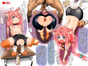 Rating: Explicit Score: 4 Tags: 1boy 1girl after_anal after_sex ahoge animal_ears anus ass bar_censor blue_eyes cat_ears censored cum cum_in_ass desk eyebrows_visible_through_hair first_satyam flat_chest folded_leg gaping hair_bobbles hair_ornament heart hetero leaning_back low_twintails mismatched_legwear navel nekomiya_hinata nipples one_eye_closed open_mouth penis pink_hair pussy shiny shiny_clothes shiny_skin shoes spats spread_legs squatting striped striped_legwear sweat tears testicles thighhighs topless torn_bike_shorts torn_clothes translation_request twin_tails virtual_youtuber User: Domestic_Importer
