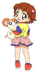 Rating: Safe Score: 0 Tags: 1girl :3 :d black_eyes blush blush_stickers brown_eyes brown_hair hair_ornament hamster hamtaro hamutarou_(hamutarou) han_(hangup) happy haruna_hiroko heart heart_hair_ornament hug looking_at_viewer looking_back open_mouth panchira pantsu pantyshot_(standing) polka_dot polka_dot_skirt shoes simple_background skirt smile standing underwear white_background User: Domestic_Importer