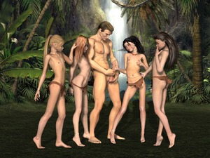 Rating: Explicit Score: 32 Tags: 1boy 3dcg 4girls age_difference anklet black_hair blonde_hair breasts brown_hair erection feet handjob jewellery jungle loincloth long_hair multiple_girls nature necklace nude outdoors palm_tree penis penis_awe photorealistic ponytail red_hair small_breasts testicles tied_hair topless tree uncensored viper waterfall User: Software