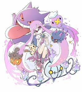 Rating: Safe Score: 6 Tags: 1girl blank_eyes chandelure collared_shirt comamawa crossover domino_mask dress drifloon fire full_body gengar hands_up head_tilt highres holding holding_poke_ball inkling knees_up long_hair long_tongue mask mimikyu misdreavus open_clothes open_shirt pointy_ears poke_ball pokemon pokemon_(creature) pumpkaboo purple purple_eyes purple_hair red_eyes red_sclera shirt shoes short_sleeves shorts_under_dress simple_background sneakers spats splatoon tentacle_hair tongue tongue_out twin_tails very_long_hair white_background wing_collar yellow_sclera User: DMSchmidt