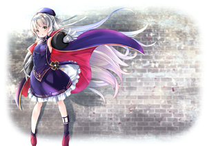 Rating: Safe Score: 0 Tags: 1girl :o asymmetrical_legwear azur_lane bangs bare_shoulders beret black_legwear blue_jacket blunt_bangs breasts brick_wall brown_eyes dress eyebrows_visible_through_hair floating_hair gloves hat head_tilt headpiece iron_cross jacket long_hair long_sleeves looking_at_viewer outstretched_arm parted_lips puffy_long_sleeves puffy_sleeves purple_dress purple_hat red_footwear shoes silver_hair single_shoe sleeveless sleeveless_dress small_breasts solo standing takara_akihito very_long_hair white_gloves z46_(azur_lane) User: DMSchmidt