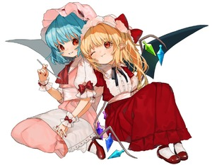 Rating: Safe Score: 0 Tags: 2girls ;t adapted_costume artist_name ascot bangs bat_wings black_neckwear black_ribbon blonde_hair blue_hair blush bobby_socks bow crystal dress eyebrows_visible_through_hair fang_out flandre_scarlet frilled_shirt_collar frills gotoh510 hand_up handkerchief hat hat_bow head_tilt high_heels holding holding_hands holding_spoon interlocked_fingers knees_up long_dress long_hair looking_at_another mob_cap multiple_girls nail_polish neck_ribbon one_eye_closed one_side_up parted_lips pink_dress pink_hat pointy_ears puffy_short_sleeves puffy_sleeves red_bow red_dress red_eyes red_footwear red_nails red_neckwear remilia_scarlet ribbon sash short_sleeves siblings signature simple_background sisters sitting smile socks spoon touhou_project wariza white_background white_legwear white_sash wings wrist_cuffs User: DMSchmidt