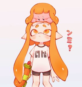 Rating: Safe Score: 2 Tags: 1girl ? bangs black_shorts blunt_bangs blush blush_stickers closed_mouth copy_ability domino_mask gun hand_on_another's_head highres holding holding_gun holding_weapon inkling kirby kirby_(series) looking_at_another looking_down looking_up mask orange_eyes orange_hair pi_q pointy_ears shirt short_eyebrows short_hair shorts sidelocks simple_background spats splatoon_(series) splattershot_(splatoon) standing super_smash_bros. super_smash_bros._ultimate tentacle_hair translation_request weapon white_background white_shirt User: DMSchmidt