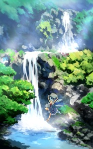 Rating: Safe Score: 0 Tags: 1girl bare_legs barefoot blue_dress blue_eyes blue_hair bow bowtie cirno dress flying highres ice ice_wings mountain puffy_short_sleeves puffy_sleeves scenery short_sleeves siyajiyatouhou solo touhou_project tree water waterfall wings User: Domestic_Importer