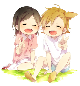 Rating: Safe Score: 0 Tags: >_d 2girls :d ^_^ barakamon black_hair brown_hair closed_eyes hina_(barakamon) kotoishi_naru kubota_hina multiple_girls open_mouth sandals sekina shoes side_ponytail smile socks v User: DMSchmidt