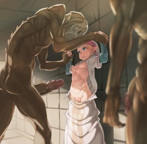 Rating: Explicit Score: 16 Tags: 1girl against_wall blonde_hair breasts censored cleft_of_venus crying crying_with_eyes_open erection eye_contact green_eyes hat height_difference highres huge_penis imminent_rape large_penis looking_at_another monster navel nipples ocarina_of_time open_mouth pee peeing peeing_self penis pinned_against_wall pointy_ears princess_zelda puffy_nipples pussy redead restrained ribs robe scared shaved_pussy short_over_long_sleeves size_difference small_breasts standing tears tenako the_legend_of_zelda torn_clothes wrist_grab you_gonna_get_raped young_zelda User: DMSchmidt
