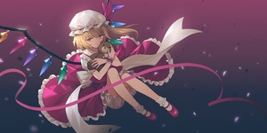 Rating: Safe Score: 1 Tags: 1girl blonde_hair bloomers blue_background confetti crystal eyebrows_visible_through_hair flandre_scarlet frilled_shirt_collar frills full_body gradient gradient_background hat hat_ribbon holding holding_stuffed_animal knees_up lazuri7 looking_at_viewer mary_janes mob_cap petticoat puffy_short_sleeves puffy_sleeves red_background red_eyes red_footwear red_ribbon red_skirt red_vest ribbon shoes short_hair short_sleeves side_ponytail sitting skirt socks solo stuffed_animal stuffed_toy teddy_bear touhou_project underwear vest white_bloomers white_hat white_legwear wings wrist_cuffs User: DMSchmidt