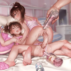 Rating: Explicit Score: 12 Tags: 1boy 2girls alcohol anal anal_object_insertion anus asakuraf ass barefoot bed bed_frame bottle bow bow_panties breath brown_hair censored closed_eyes dildo double_dildo feet flat_chest futami_ami futami_mami girl_on_top hair_scrunchie highres holding idolmaster idolmaster_(classic) indoors mosaic_censoring multiple_girls nipples nopan object_insertion on_bed open_mouth panties_aside pantsu pillow profile pussy_juice scrunchie sex_toy shirt shirt_lift sleeveless sleeveless_shirt soles spread_legs straddling sweat toes tongue underwear vaginal vaginal_object_insertion User: Domestic_Importer
