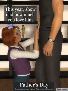 Rating: Questionable Score: 1 Tags: 1boy 1girl 3d_custom_girl 3dcg age_difference artist_name blue_eyes bow father's_day father_and_daughter hair_bow imminent_fellatio incest kneeling looking_up original photorealistic red_hair short_hair smile spudnuts standing statue wedding_ring wristwatch User: Software