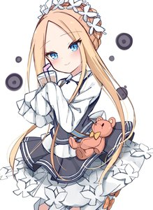 Rating: Safe Score: 2 Tags: 1girl abigail_williams_(fate/grand_order) apron bangs black_skirt blonde_hair blue_eyes blush bubble_tea butterfly_hair_ornament cup drinking_straw fate/grand_order fate_(series) hair_ornament headdress highres holding holding_cup kamu_(geeenius) long_hair long_sleeves looking_at_viewer maid maid_apron maid_headdress parted_bangs skirt sleeves_past_fingers sleeves_past_wrists solo stuffed_animal stuffed_toy teddy_bear tied_hair User: DMSchmidt