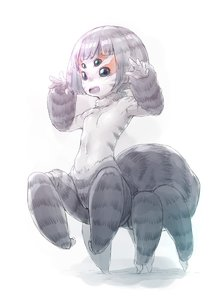 Rating: Safe Score: 0 Tags: 1girl :d arachne bangs blunt_bangs breasts extra_eyes facial_mark full_body fur gradient gradient_background hands_up highres insect_girl monster_girl navel no_nipples nude nukomasu open_mouth original pale_colour pale_skin pussy short_hair silver_hair simple_background small_breasts smile solo spider_girl standing white_background User: Domestic_Importer