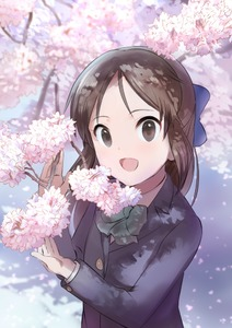 Rating: Safe Score: 0 Tags: 1girl :d black_eyes blue_bow bow bowtie brown_hair cherry_blossoms hair_bow idolmaster idolmaster_cinderella_girls long_hair looking_at_viewer open_mouth pettan_p smile solo tachibana_arisu upper_body User: DMSchmidt