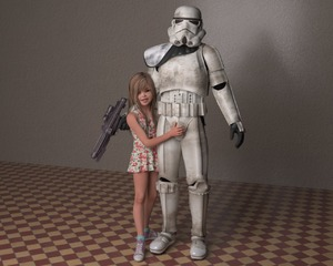 Rating: Explicit Score: 10 Tags: 1boy 1girl 3dcg age_difference cumtroika dress flat_chest long_hair photorealistic pose sexually_suggestive shadow shoes skyler smile socks standing star_wars stormtrooper User: fantasy-lover