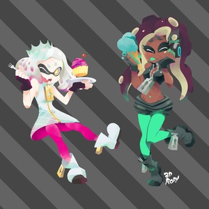 Rating: Safe Score: 0 Tags: 2girls 3d_rod! blush boots brown_skin cake crown domino_mask dress eyeshadow fangs fingerless_gloves flat_chest food gloves happy headphones hime_(splatoon) hips ice_cream iida_(splatoon) long_hair looking_at_viewer makeup mask midriff multiple_girls navel navel_piercing octarian open_clothes pantyhose pantyhose_under_shorts piercing purple_hair short_eyebrows shorts smile splatoon splatoon_2 star star-shaped_pupils symbol-shaped_pupils tentacle_hair tongue tongue_out white_hair yellow_eyes zipper User: DMSchmidt