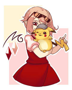 Rating: Safe Score: 1 Tags: 1girl bangs blonde_hair blush_stickers covered_face cowboy_shot crossover crystal detective detective_pikachu eyewear_on_head flandre_scarlet gen_1_pokemon hat holding holding_pokemon one_eye_closed pikachu pointy_ears pokemon pokemon_(creature) puffy_short_sleeves puffy_sleeves red_eyes red_skirt red_vest shirt short_sleeves side_ponytail skirt smile sunglasses touhou_project vest white_shirt yoruny User: DMSchmidt