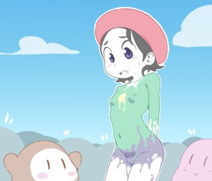 Rating: Questionable Score: 5 Tags: 1girl adeleine black_hair blue_eyes blush bodypaint breasts crowd embarrassed hat kirby kirby_(series) nintendo nipples nude open_mouth orange_peel_(artist) outdoors paint pussy red_hat short_hair small_breasts sweat waddle_dee User: DMSchmidt